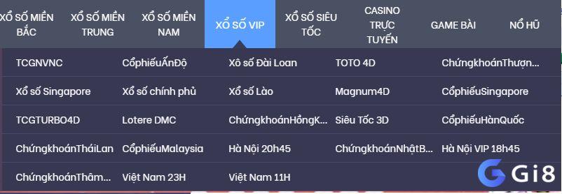 Loại hình lô đề Gi8 - Xổ số Vip Gi8